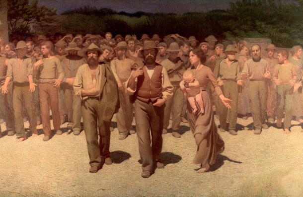 Il Quarto Stato di Pellizza da Volpedo, simbolo delle lotte dei lavoratori nel XX secolo