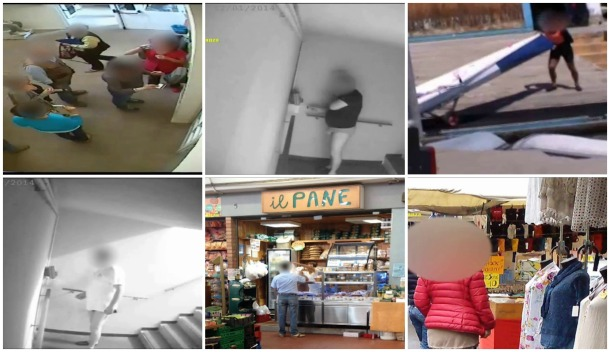 Le immagini delle telecamere della Guardia di Finanza riprendono i dipendenti infedeli