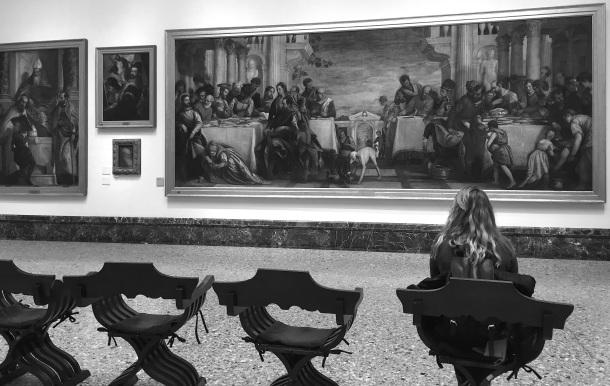 Una sala della Pinacoteca di Brera di Milano