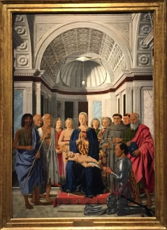 Piero della Francesca - Madonna con il Bambino e Santi - terra matta blog