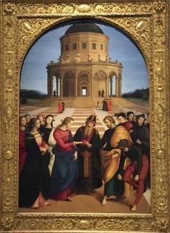 Raffaello Sanzio - Sposalizio della Vergine - Pinacoteca di Brera - terra matta blog