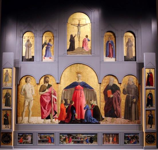 Il Polittico della Misericordia di Piero della Francesca nella sua interezza - Museo Civico di Sansepolcro