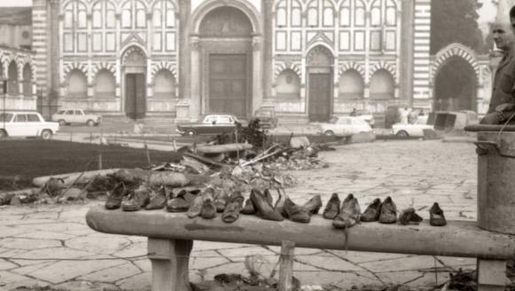 Piazza Santa Maria Novella a Firenze nei giorni dell'alluvione | © foto di Fausto Braganti