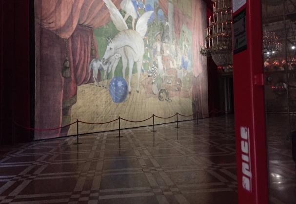 Allestimento Picasso Parade al Museo di Capodimonte