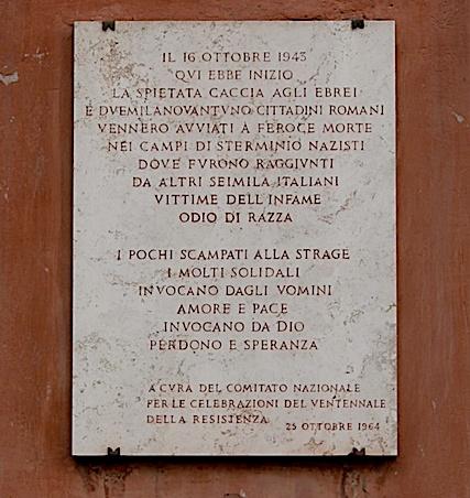 Lapide in Largo 16 ottobre 1943